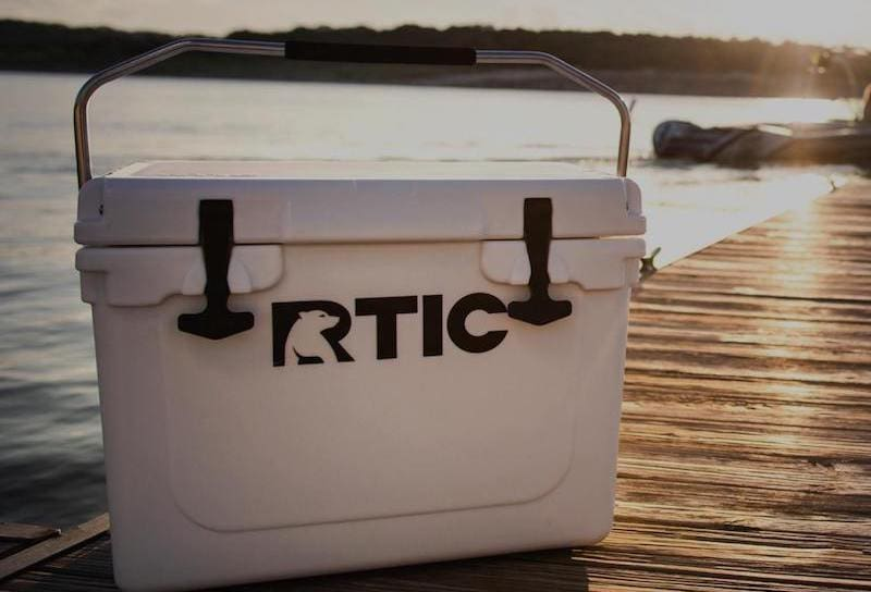RTIC Outdoor Cooler by the lake