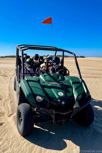 ATV on Pismo Beach with passengers
